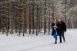 Zimowa sesja narzeczeńska na Mazurach 2