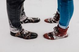 Zimowa sesja narzeczeńska na Mazurach 9